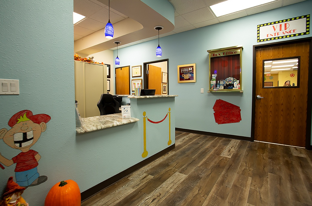 Entrance to dental treatment area