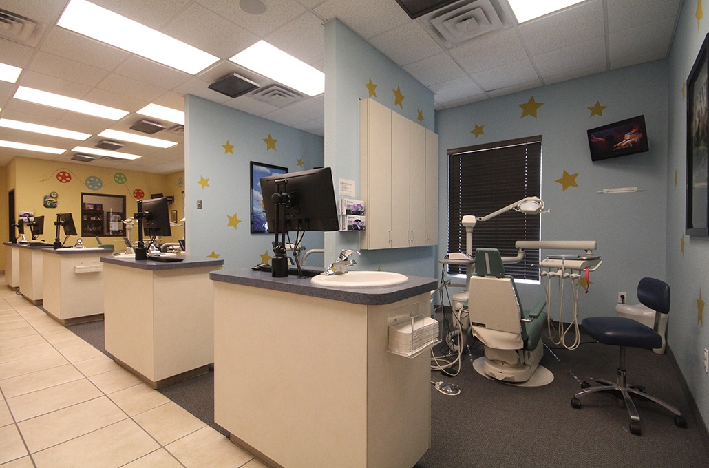 Row of dental treatment rooms